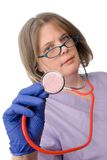 Female doctor with stethescope Stock Image
