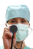 Female doctor with stethoscope Stock Image