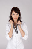 Female Doctor with Stethoscope Royalty Free Stock Images