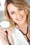 Female doctor stethoscope Stock Images