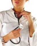 Female doctor with stethoscope royalty free stock photos
