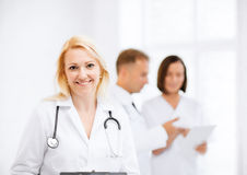 Female doctor with stethoscope Royalty Free Stock Photography