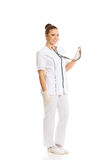 Female doctor with a stethoscope Stock Photography