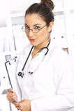 Female doctor in surgery Royalty Free Stock Photos