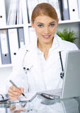 Female doctor in surgery Royalty Free Stock Photo