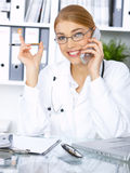 Female doctor in surgery Royalty Free Stock Images
