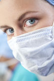 Female Doctor In Surgical Mask Stock Image