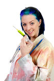 Female Doctor with Syringe Stock Images