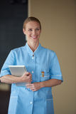 Female doctor with tablet computer Stock Photography
