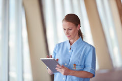 Female doctor with tablet computer Stock Image