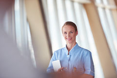 Female doctor with tablet computer Stock Photo