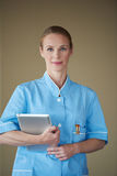 Female doctor with tablet computer Royalty Free Stock Image