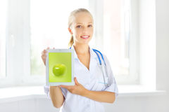 Female doctor with tablet pc Stock Photography