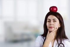 Female Doctor Thinking Stock Photos