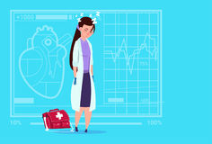 Female Doctor Tired Napping Medical Clinics Worker Hospital Royalty Free Stock Photography