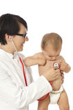 Female doctor with toddler Stock Photo