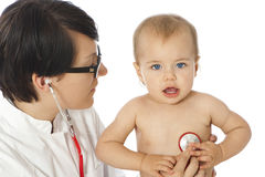 Female doctor with toddler Stock Photography
