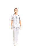 Female doctor in uniform royalty free stock images
