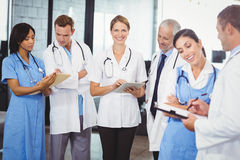 Female doctor using digital tablet Stock Photography