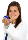 Female doctor using test tubes Stock Photography