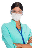 Female doctor wearing a face mask Royalty Free Stock Photo