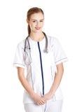Female doctor wearing stethoscope Stock Photos