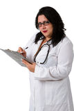 Female doctor whit a clipboard Stock Photos