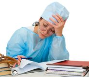 Female doctor working Royalty Free Stock Images