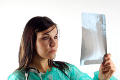 Female doctor with x-ray #15 Royalty Free Stock Image