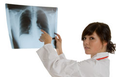 Female doctor with x-ray Stock Photo