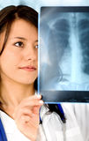 Female doctor - xray Stock Photography