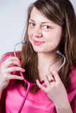 Female doctors portraiture with her stethoscope. Stock Images