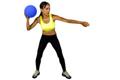 Female dodgeball player Royalty Free Stock Photo