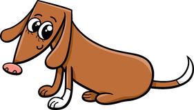 Female dog cartoon illustration Stock Photo