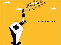 Female Doing Advertising royalty free illustration