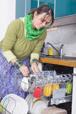 Female doing housework Royalty Free Stock Images