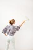 Female doing repairs Stock Photo