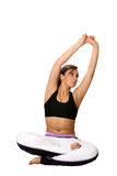 Female doing stretching Stock Image