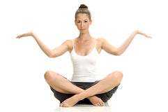 Female doing yoga Royalty Free Stock Photography
