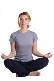 Female doing yogatic Stock Image