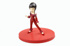 Female doll posture. Female doll from asia posture on a white background Royalty Free Stock Image