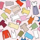 Female dress fashion seamless pattern. Underwear cloth background. Stock Photo