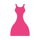 Female dress isolated icon Stock Images