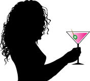 Female with drink Royalty Free Stock Photography