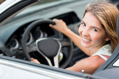 Female driver in a car Royalty Free Stock Image