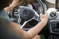 Female driving car. Stock Image