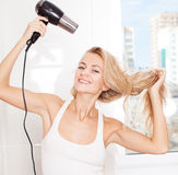 Female dry hair Royalty Free Stock Photos