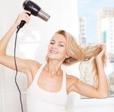 Female dry hair Royalty Free Stock Photos