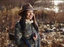 Female duck hunter Stock Images