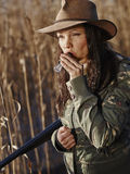 Female duck hunter Stock Photos